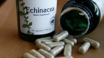 The dietary supplement echinacea is displayed in a shop Monday, Dec. 20, 2010, in Seattle. (AP / Elaine Thompson)