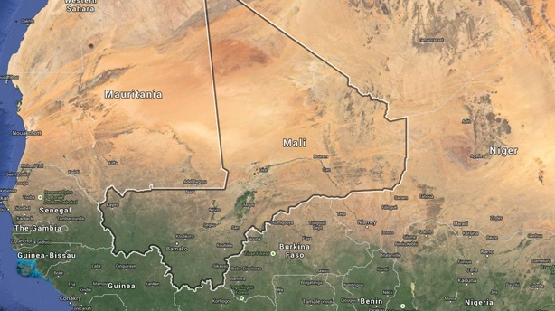 Mali is shown in this Google Map. Last night unknown assailants killed at least 95 people in an ethnic Dogon village says the government. (Google)