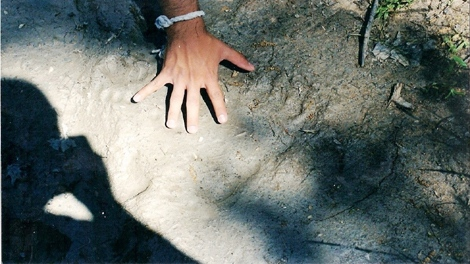 Bigfoot enthusiast Jeffrey Gonzalez said the above picture is the creature's footprint, found at a California mountain range.