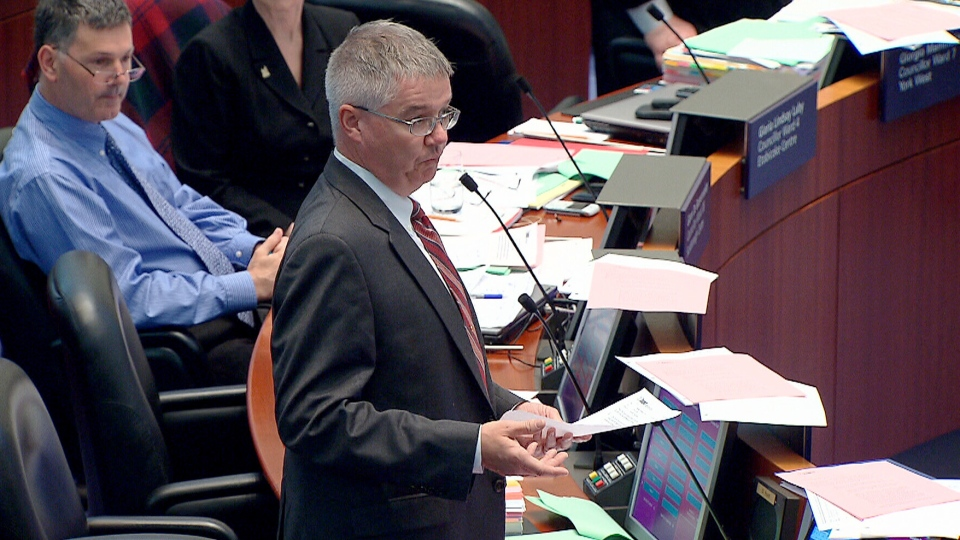 Toronto city councillor Paul Ainslie says he will be reporting the series of robocalls, which went out to some of his constituents in Scarborough Friday night, to the integrity commissioner.