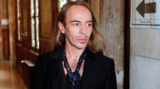 Former Dior designer John Galliano arrives at the Paris court house, Wesdnesday June 22, 2011. (AP / Thibault Camus)