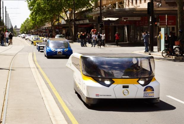 Solar-powered car Stella