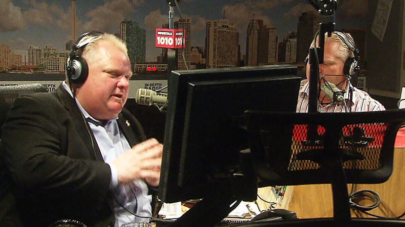 On Toronto Mayor Rob Ford's weekly radio show the mayor said he was puzzled as to why Ainslie would take issue with the automated calls on Sunday, Oct. 13, 2013.