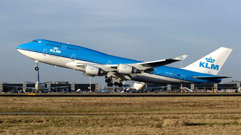 A KLM Royal Dutch Airlines Boeing 747-400 is seen in this undated handout photo. (Capital Photos for KLM)