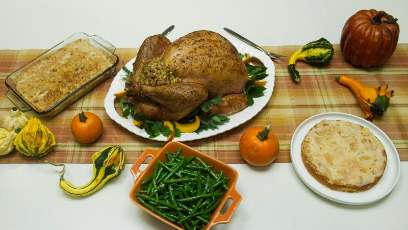 A Thanksgiving turkey dinner is shown in Toronto on Tuesday, Sept. 25, 2012. (Nathan Denette / THE CANADIAN PRESS)