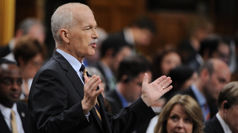 NDP Leader Jack Layton asks a question during question period in the House of Commons on Parliament Hill in Ottawa on Thursday, June 23, 2011. (Sean Kilpatrick / THE CANADIAN PRESS)