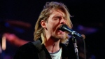 In this Dec. 13, 1993 file photo, Kurt Cobain, lead singer for the Seattle-based band Nirvana, performs during the taping of MTV's Live and Loud Production in Seattle. Nirvana, Linda Ronstadt, Peter Gabriel, Hall and Oates, and The Replacements are among first-time nominees to the Rock and Roll Hall of Fame. The hall of fame announced its annual list of nominees Wednesday morning, Oct. 16, 2013, and half the field of 16 were first-time nominees. (AP / Robert Sorbo, File)