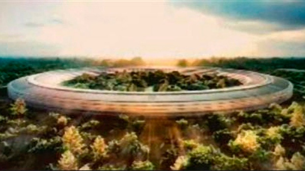 Rendering of Apple's 'spaceship' campus