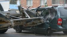 Front-end loader crash