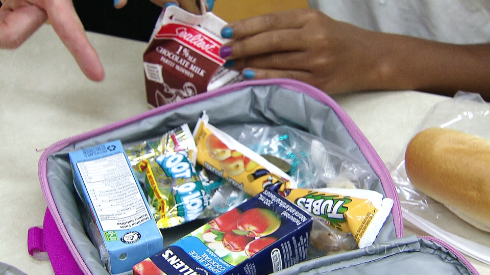 Students at a Toronto elementary school are not allowed to bring chocolate, candy or pop to school.