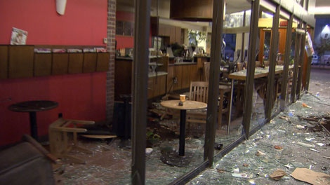 Blenz Coffee is suing the rioters who smashed in windows at three downtown stores following the Game 7 Stanley Cup playoff game on June 15, 2011.