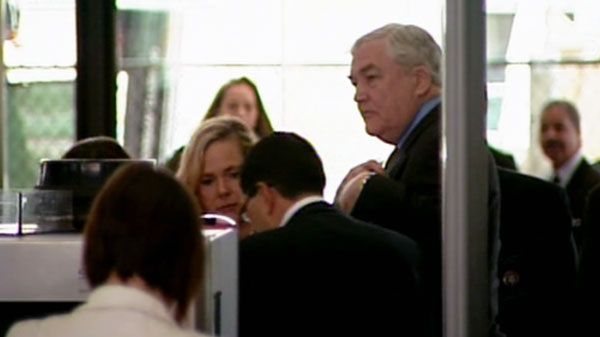Former media mogul Conrad Black arrives at federal court in Chicago, Friday, June 24, 2011.