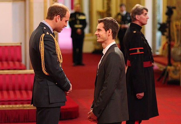 Wimbledon champion Andy Murray at Buckingham