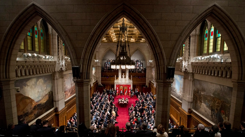 Governor General David Johnston delivers the Speech from the Throne in the Senate Chamber on Parliament Hill in Ottawa, Wednesday October 16, 2013. (THE CANADIAN PRESS / Sean Kilpatrick)