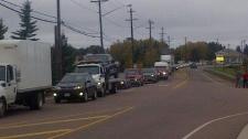 Traffic in Rexton, N.B.