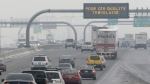 A poor air quality sign is posted over a highway, in Salt Lake City, Jan. 23, 2013. (AP / Rick Bowmer)
