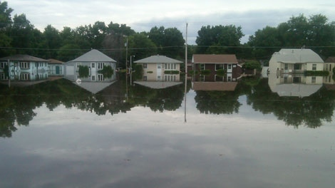 Residents of Minot, N.D. deal with serious flooding.