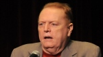 Larry Flynt speaks at The Los Angeles Times Festival of Books at USC in Los Angeles, Calif. on April 30, 2011. (AP / Katy Winn)