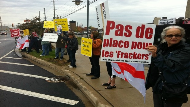 Shale gas protests in Moncton