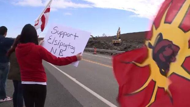 Solidarity protest in Membertou