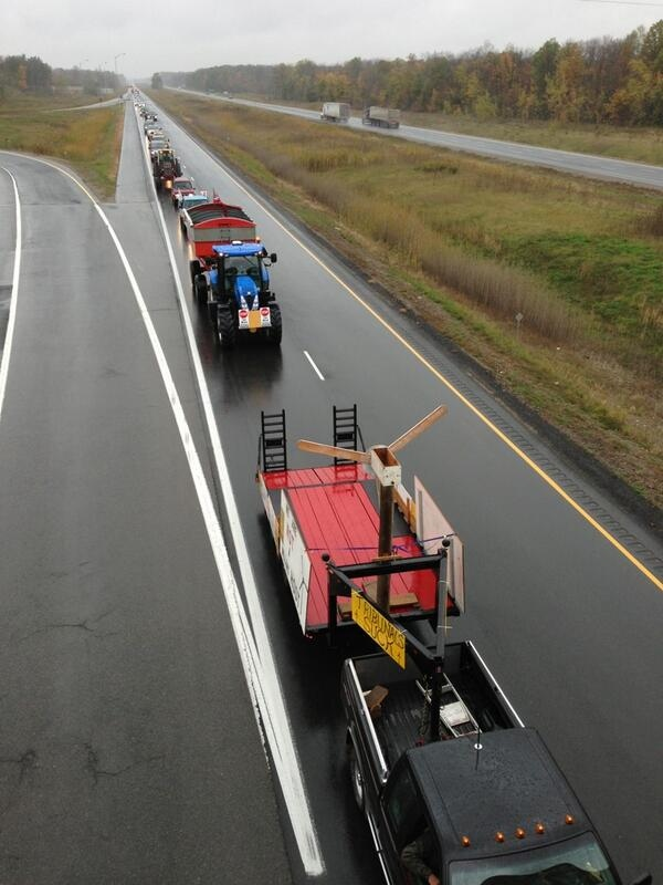 Wind energy protest on Highway 402