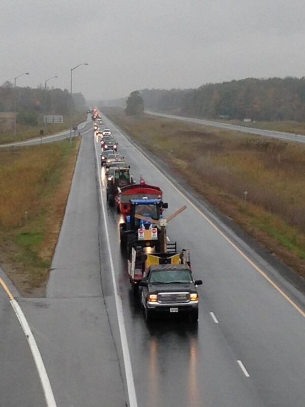 Anti-wind project protest near Strathroy