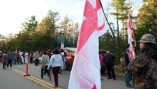 Anti-fracking protests in New Brunswick