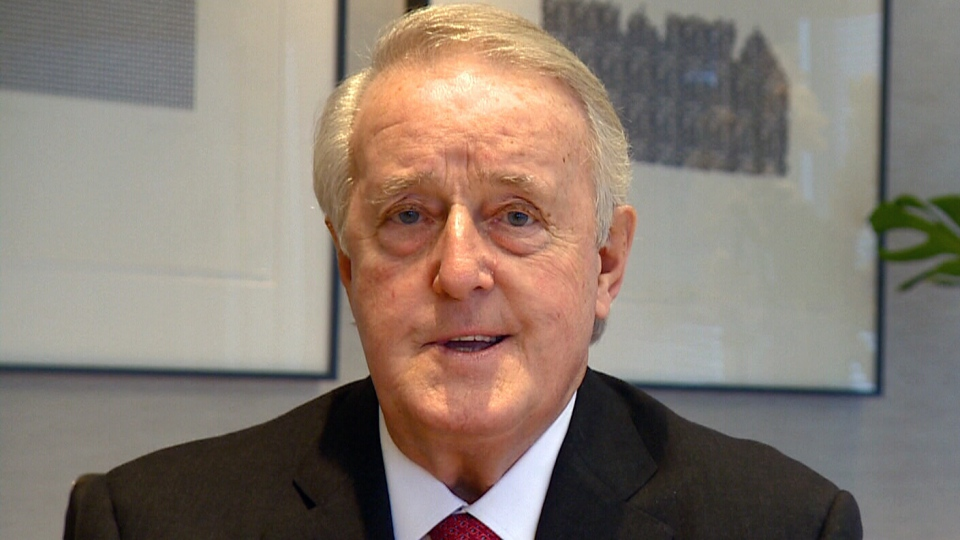 Former prime minister Brian Mulroney appears on CTV's Question Period on Sunday, Oct. 20, 2013.