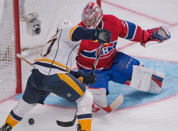 Predators' win over Habs, 2-1 in Montreal