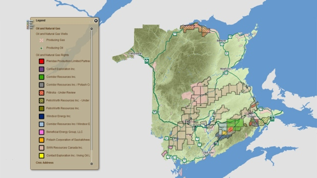 Shale gas exploration in New Brunswick