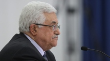 Palestinian President Mahmoud Abbas attends a meeting of the Palestinian leadership in the West Bank city of Ramallah, Sunday, June 26, 2011. (AP Photo/Majdi Mohammed)