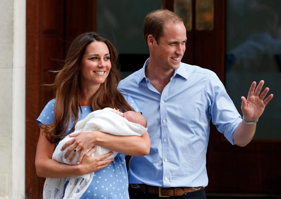Prince George of Cambridge outside hospital