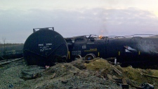 Investigators on scene of Alberta train derailment
