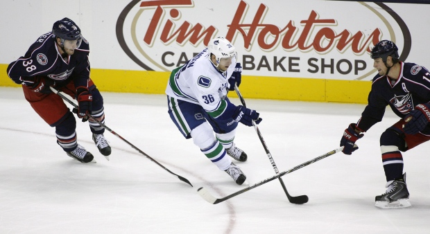 Canucks play Columbus Blue Jackets