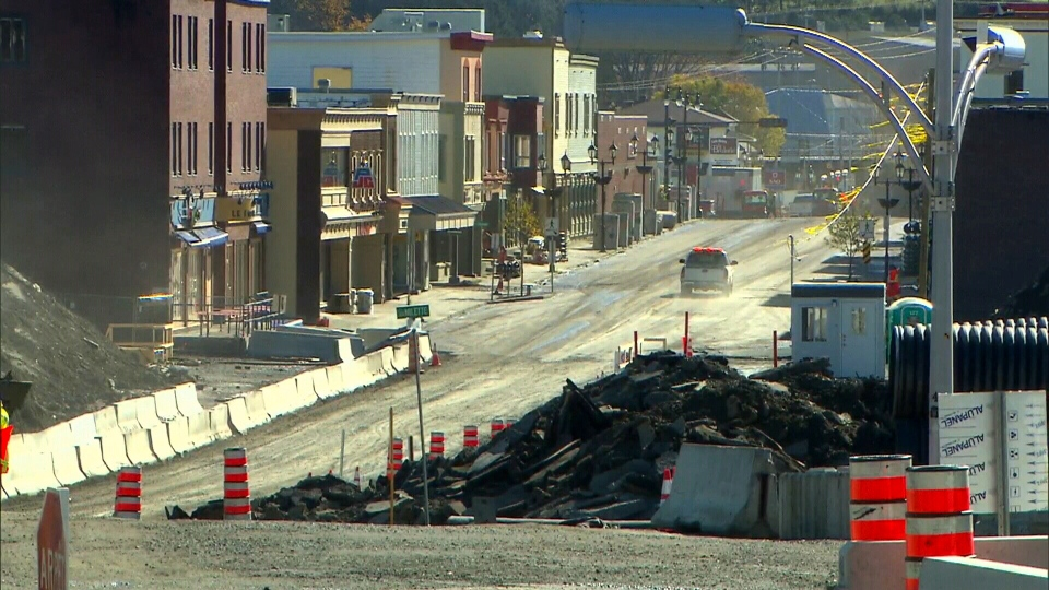 The town of Lac-Megantic, Que. is beginning to rebuild the railroad that ran through the town prior to a devastating derailment.