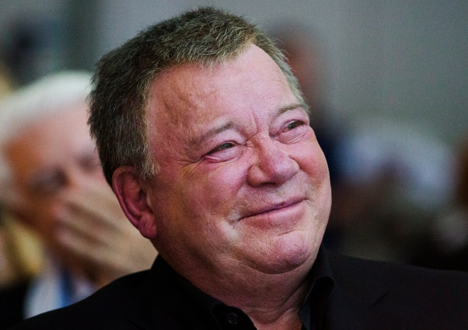 William Shatner looks on during the 2013 Stratford Festival's Legacy Award Gala where he accepted the Legacy Award in Toronto, Monday October 21, 2013. THE CANADIAN PRESS/Mark Blinch