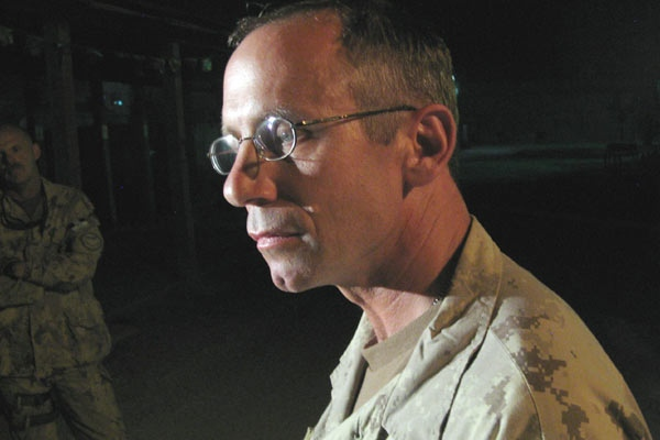 Canadian Brig-Gen Denis Thompson comments on the prison attack at the Kandahar Canadian reconstruction base on Saturday June 14, 2008. (Alexander Panetta / THE CANADIAN PRESS)