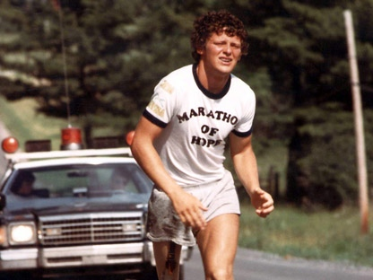 Marathon of Hope runner Terry Fox, shown in this undated photo, had his dream of running across the country cut short near Thunder Bay, Ont., when he learned that cancer had spread to his lungs. (CP PHOTO)