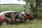 Two people were injured in a two-car crash in Wallenstein, Ont. on june 28, 2011.