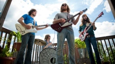 The Sheepdogs of Saskatoon are finalists in a contest giving them a chance to be on the cover of Rolling Stone. June 29, 2011. (Emma McIntyre)