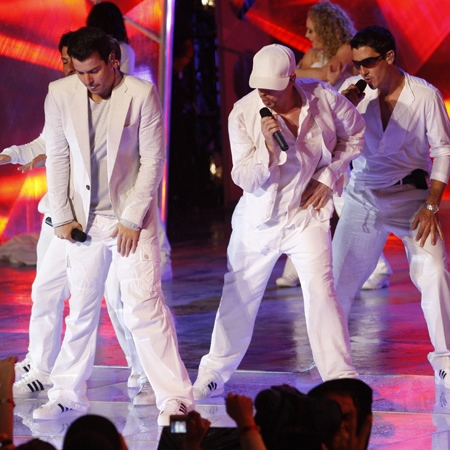 New Kids on The Block perform during the Much Music Video Awards in Toronto, Sunday, June 15, 2008. (J.P.Moczulski / THE CANADIAN PRESS)