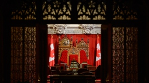 The Senate chamber is seen ahead of question period on Parliament Hill in Ottawa on Thursday, Oct. 24, 2013. THE CANADIAN PRESS/Adrian Wyld