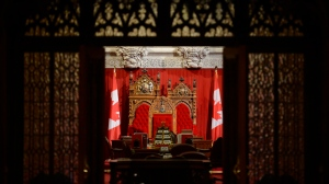 The Senate chamber is seen ahead of question period on Parliament Hill in Ottawa on Thursday, Oct. 24, 2013. (Adrian Wyld / THE CANADIAN PRESS)