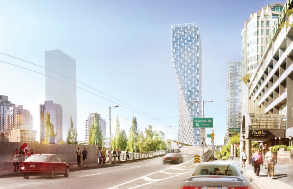 Vancouver city council has approved the development of a signature 497-foot twisting tower designed by renowned Danish architect Bjarke Ingels. (Bjarke Ingels Group)