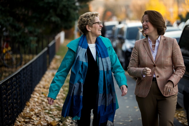Kathleen Wynne and Alison Redford