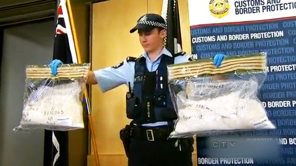 Australian police say three-and-a-half kilograms of methamphetamine were found hidden in luggage seized at Perth International Airport after an Australian couple alerted custom officials to concerns they had with their luggage.
