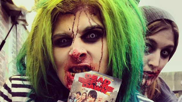 Revellers take part in the 11th annual Toronto Zombie Walk, Saturday, Oct. 26, 2013. (Instagram / @real_maricel)