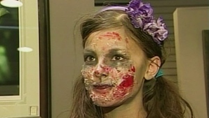 CTV London/Windsor: Meet and Greet with a zombie