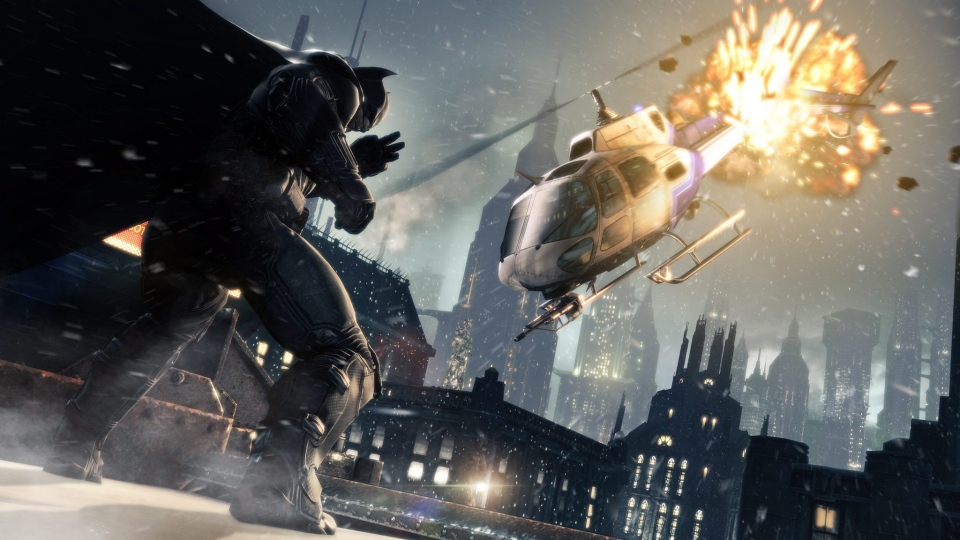 This publicity photo released by Warner Bros. Interactive Entertainment shows a scene from the video game franchise 'Batman: Arkham Origins.'