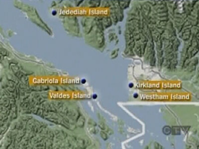 The five feet that have washed ashore at various locations in B.C., have been found in shoes.